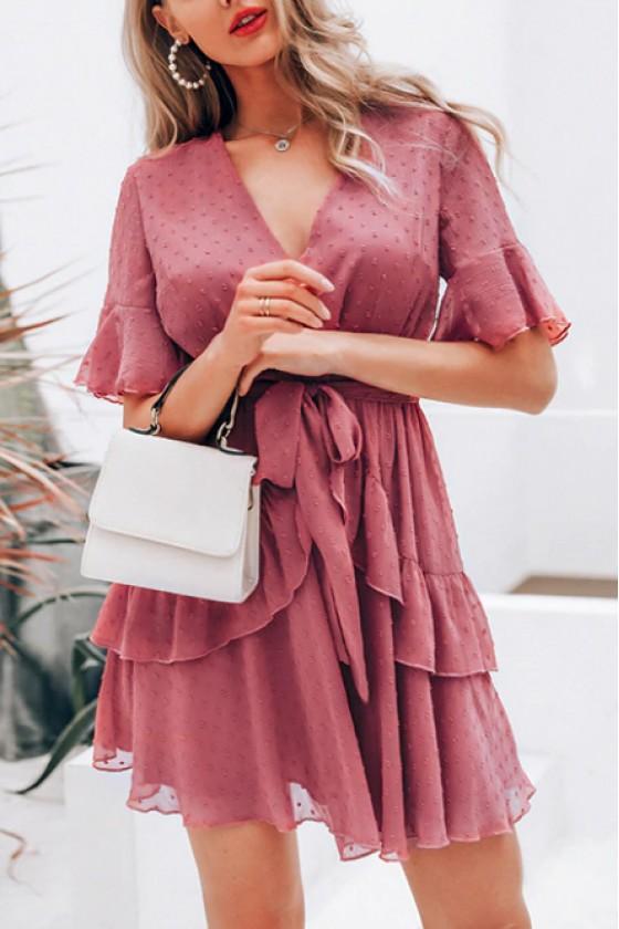 Lille Swiss-Dot Ruffles Dress