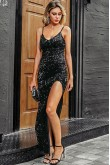 Tiffany Sequined Black Dress
