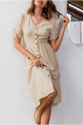 Uma Button Down Midi Sundress