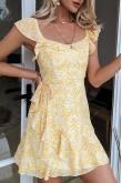 Francisca Ruffles Short Dress