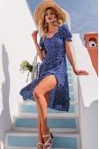 Selena Blue Floral Dress