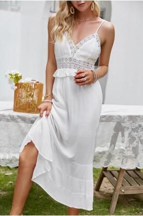 Oasis Backless White Summer Dress