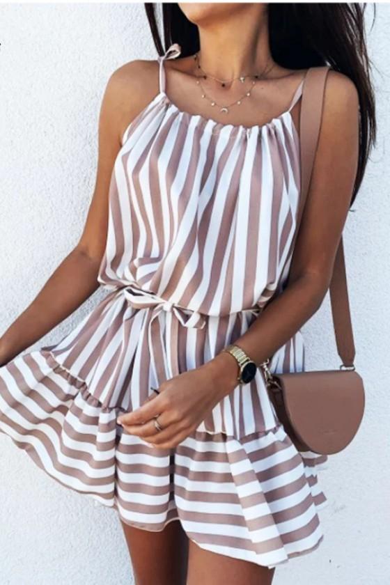 Marina Stripeed Sundress with Straps