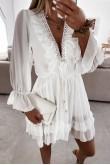 Joline White Ruffles Dress