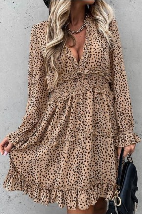 Jain Leopard Print Flowy Dress