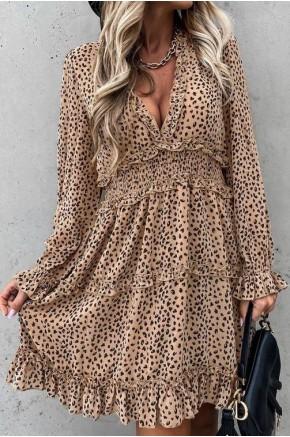 Jain Leopard Print Flowy Dress