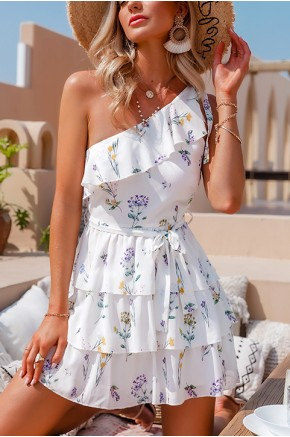 Alisha One Shoulder Summer Dress