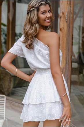 Lydia One-Shoulder Skater Dress