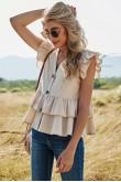Amber Ruffled Layer Summer Top