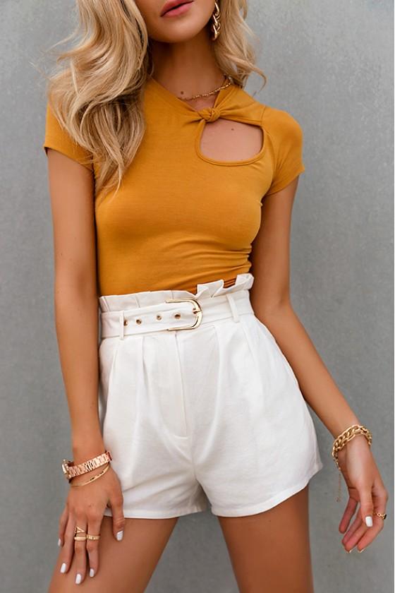 Veronike White Shorts