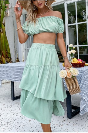 Julia Two-Piece Mint Dress