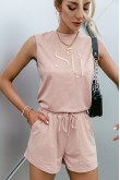 Olexa Pink Shorts Matching Set