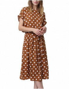 'Cordelia' Retro Polka Dot Dress