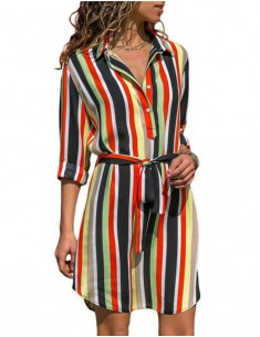 'Cali' Striped Retro Summer Dress