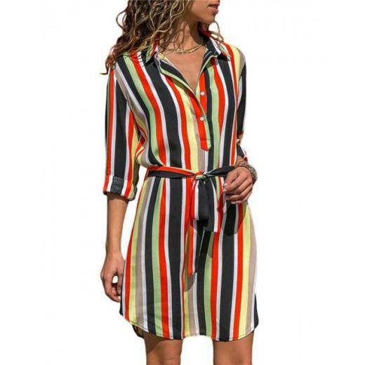 'Cali' Striped Retro Summer Dress