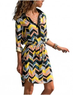 'Rem' Geo Print Summer Dress