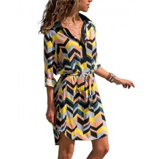 'Rem' Geo Print Summer Dress