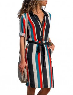 'Kellie' Striped Retro Summer Dress