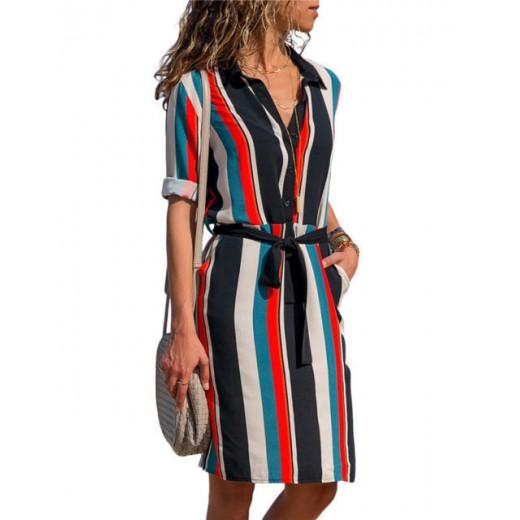 'Kellie' Striped Retro Summer Dress