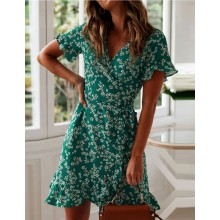 'Quenna' Blossom Print Wrap Dress