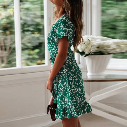 'Quenna' Blossom Print Wrap Dress