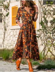 'Ingrid' Floral Midi Dress