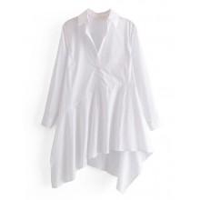 'Sofia' White Slant Top Dress