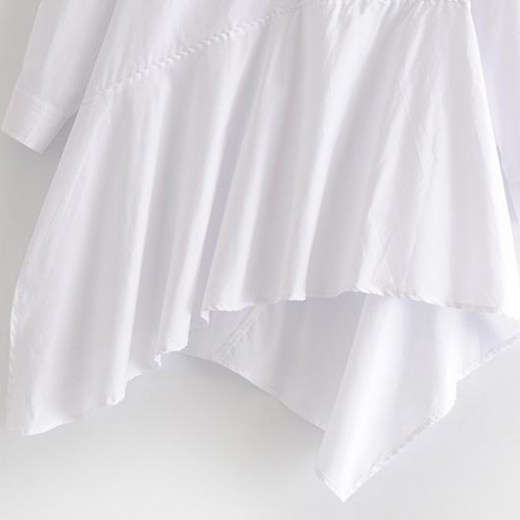 'Sofia' White Slant Top Dress