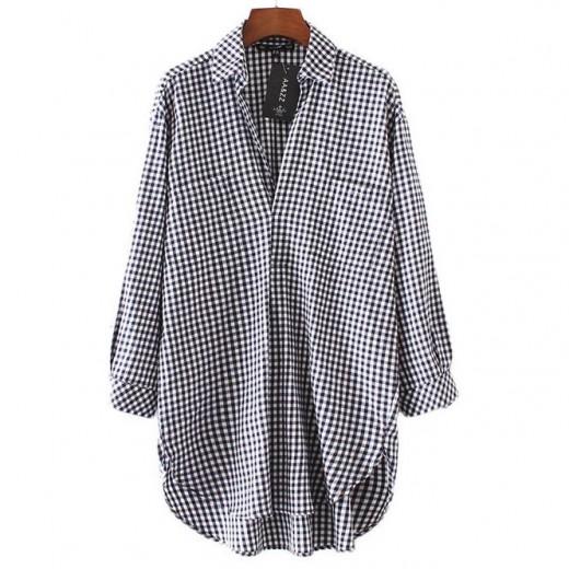 Netta Oversized Checkered Dress
