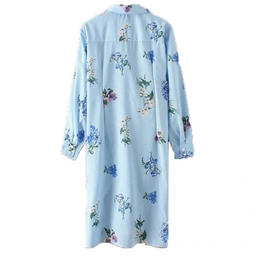 'Bluebell' Floral Print Shirt Dress