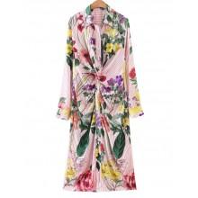 'Odelia' Bright Wildflowers Midi Dress