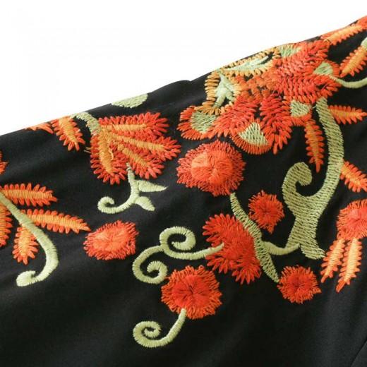 'Elise' Vintage Floral Embroidered Dress