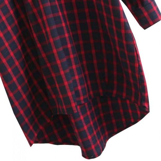 'Briana' Oversized Plaid Shirt Dress