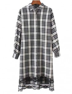 'Dania' Oversized Plaid Shirt Dress