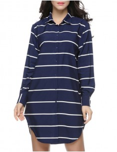 Brenda Shop Striped Shirt Dress
