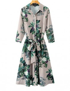 'Corinne' Elegant Floral Midi Dress