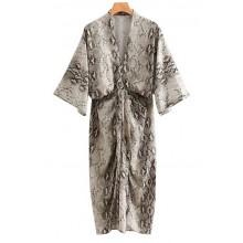 """""""Abrielle"""" Snake Print Summer Dress"""