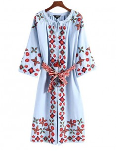 'Clodagh' Ethnic Embroidered Dress