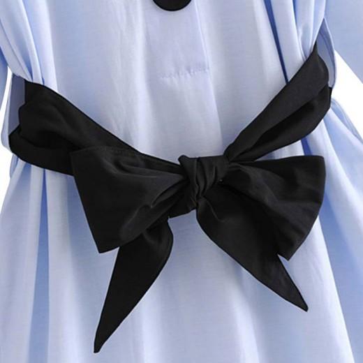 'Sonya' Light Blue Shirt Dress