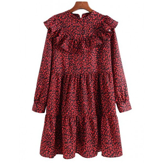 'Annie' Patterned Ruffles Dress