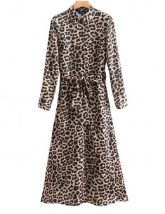'Lainey' Chic Leopard Dress