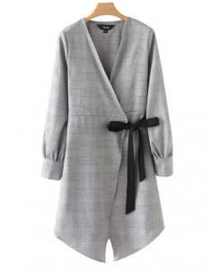 'Vanessa' Wrap Plaid Dress