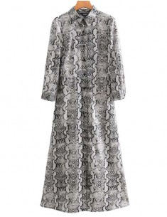 'Nichelle' Snake Patterned Maxi Dress