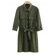 'Charley' Bow Sash Casual Dress