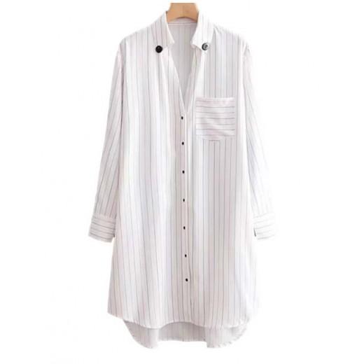 'Zoe' Button Up Oversized Shirt Dress