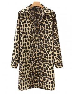 'Briana' Leopard Print Tunic Dress