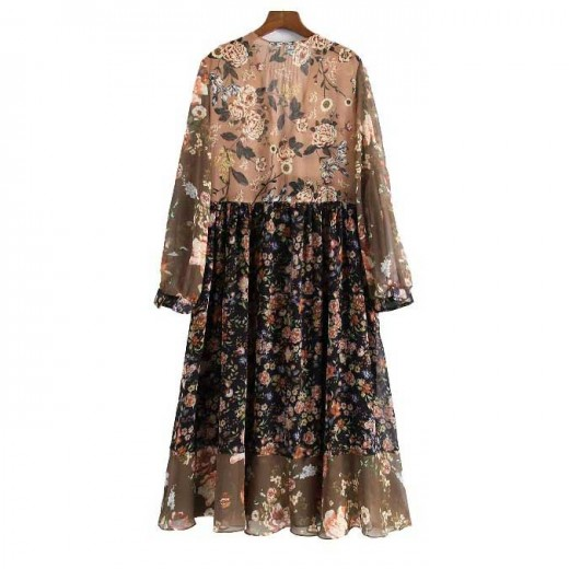 'Karina' Floral Bohemian Dress