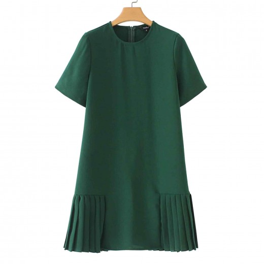 'Nellie' Casual Pleated Tunic Dress