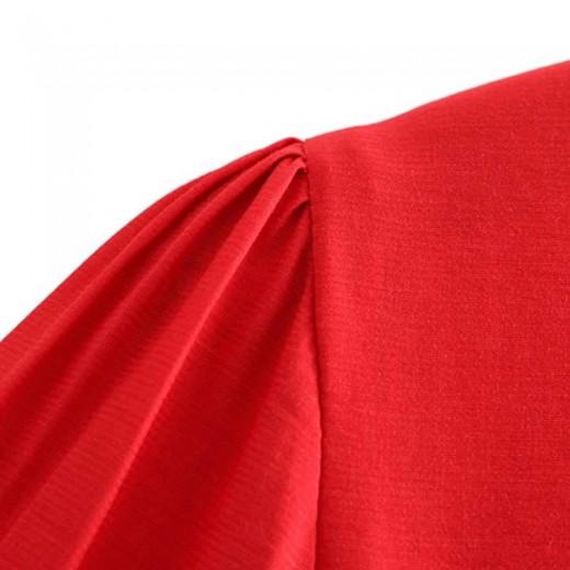 'Renee' Long Red Evening Dress