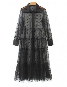 'Lene' Polka Dot Transparent Dress